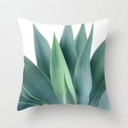 Agave blanco Throw Pillow