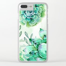 Irish Mint Garden Clear iPhone Case