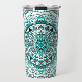 Supernova-In Teal, Aqua, & Mint Travel Mug