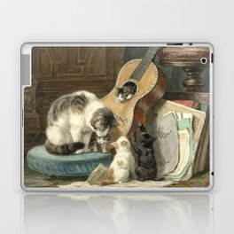 The Musicians - Vintage Cat Painting Laptop & iPad Skin
