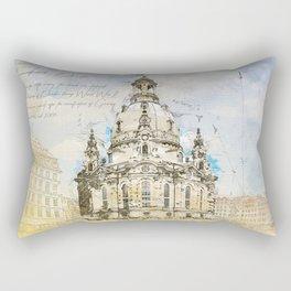 Frauenkirche, Dresden Germany Rectangular Pillow