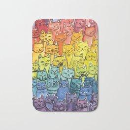 the pride cat rainbow  squad Bath Mat