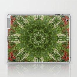 Cardinal flower and Culver's root kaleidoscope Laptop & iPad Skin