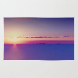 Sunset on the Atlantic Ocean Rug