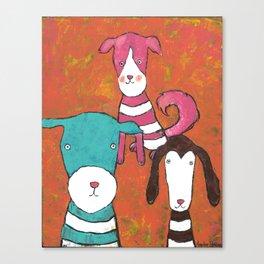dog portrait Canvas Print