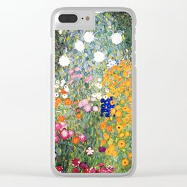 The Garden by Gustav Klimt Clear iPhone Case