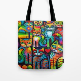 Owl and Pussicats Tote Bag