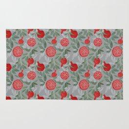 Pomegranate garden on grey Rug