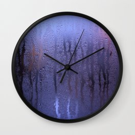 Purple Condensation Wall Clock