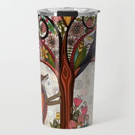fox and crow Travel Mug