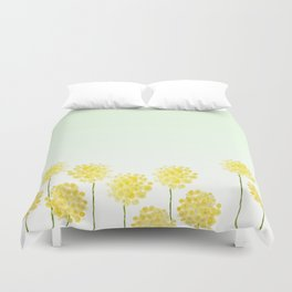 two abstract dandelions watercolor Duvet Cover