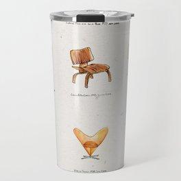 Post Modern Watercolor Chairs Travel Mug