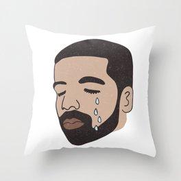 drake crying Throw Pillow