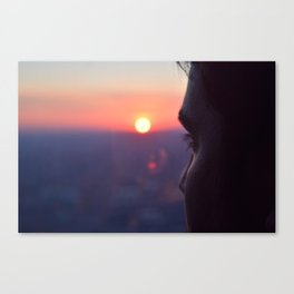 Sunset on Chicago Canvas Print