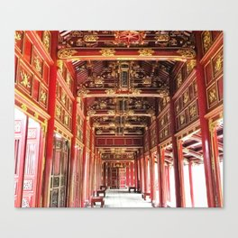 Red Asian Palace Canvas Print