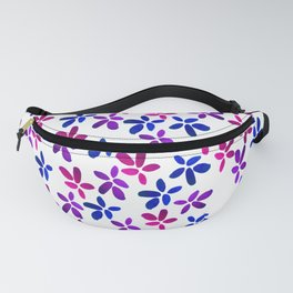 Pink and Purple Watercolor Floral Pattern Fanny Pack