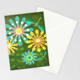 In The Garden Among The Flowers Stationery Cards