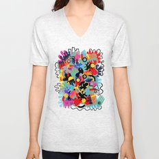 Color blobs 002 Unisex V-Neck