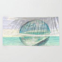 glass ball magic Beach Towel