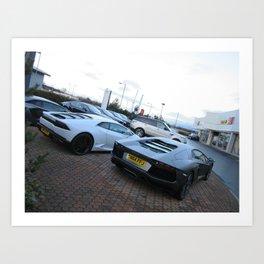 Lamborghini Hurcan and Aventador Art Print
