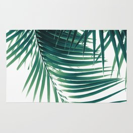 Palm Leaves Green Vibes #4 #tropical #decor #art #society6 Rug