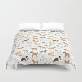 Breeds of Dog Duvet Cover