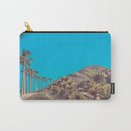 Andalusia street with palm trees at sunset. Retro toned Carry-All Pouch