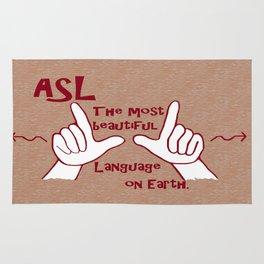 ASL Most Beautiful Language Rug