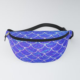 Blue Mermaid Scales Fanny Pack
