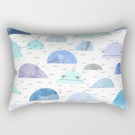 Whale party Rectangular Pillow