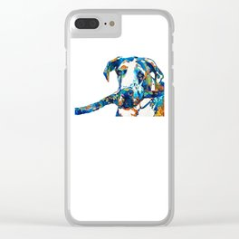 Great Dane Art - Stick With Me - By Sharon Cummings Clear iPhone Case
