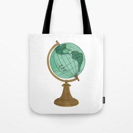 Illustrated Globe Tote Bag
