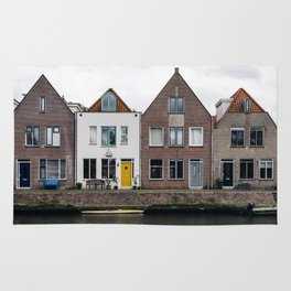 Row houses and Canal in The Netherlands Rug