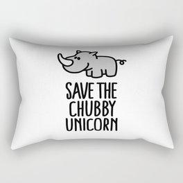 Save the chubby unicorn Rectangular Pillow