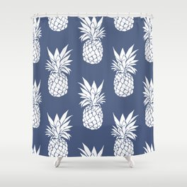Pineapple Blues Shower Curtain