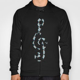 Musical repeating pattern No.3, Collection No.1 Hoody
