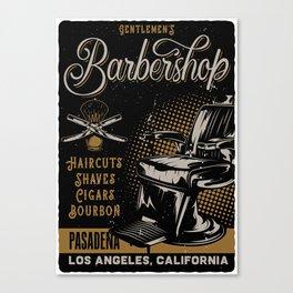 Gentlemen's Barber Shop LA Canvas Print