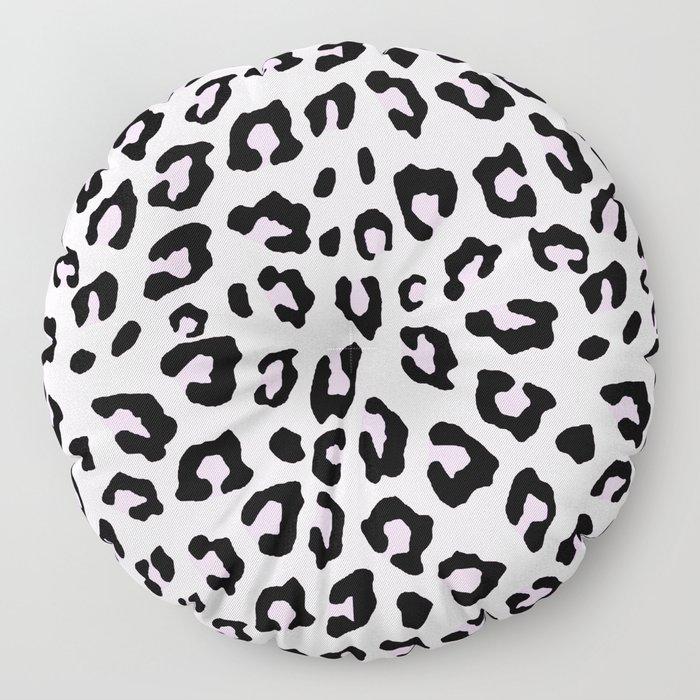 Leopard Print - Lavender Blush Floor Pillow