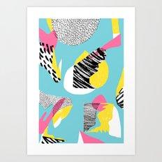 Modern living with lagoon view Art Print