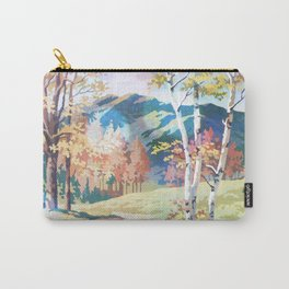 Paint by Number Road to the Mountains Carry-All Pouch