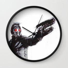 Star-Lord (Peter Quill) Guardians Graffiti Pop Urban Street Art Wall Clock