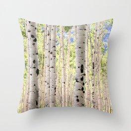 Dreamy Aspen Grove Throw Pillow