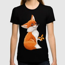 Cute fox playing with a butterfly T-shirt