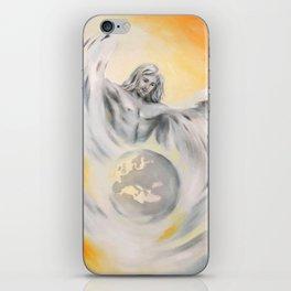 Guardian Angel World Peace - Handpainted Angel Art iPhone Skin