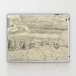 Landscape with Peasant Women Harvesting Laptop & iPad Skin