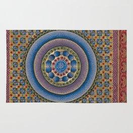 Armenian illuminated manuscript style concentric circles design Rug