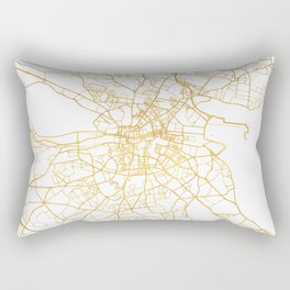 DUBLIN IRELAND CITY STREET MAP ART Rectangular Pillow