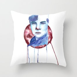 Cold-Blooded Watercolor Painting Throw Pillow