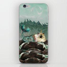 Behold the Mythical Merkitticorn - Mermaid Kitty Cat Unicorn iPhone Skin