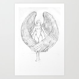 Nick's angel Art Print